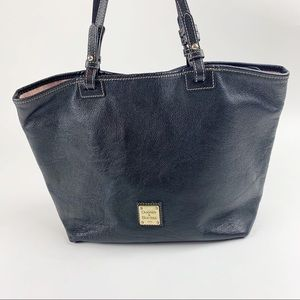 Dooney & Bourke Black Leather Tote Shoulder Bag